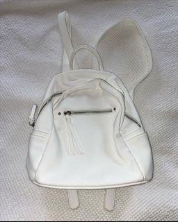 Forever new white backpack