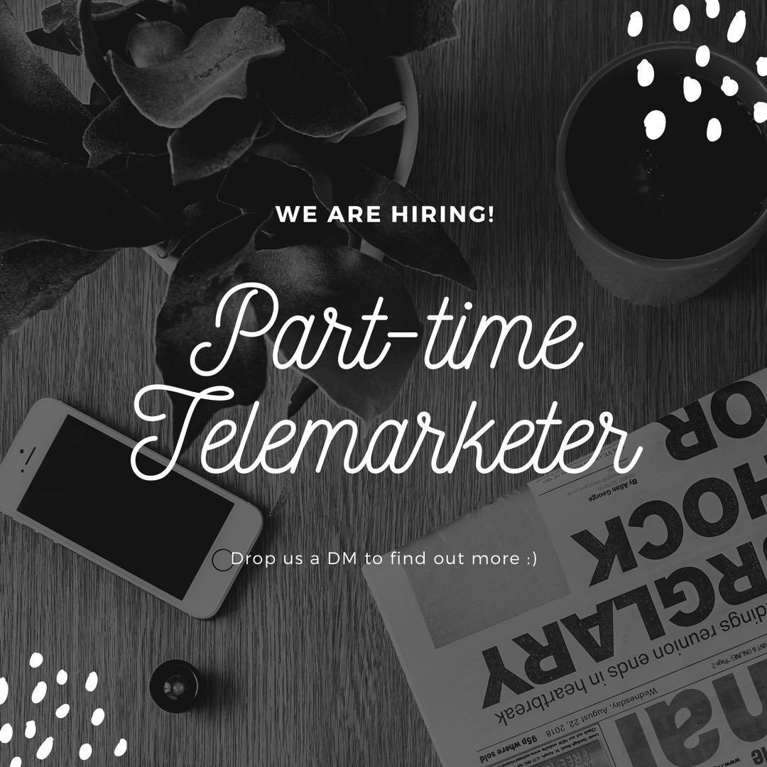 Part-time telemarketer $10/hr