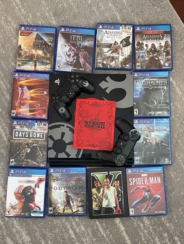 PS4 Starwars Edition 500gb With 2 Controllers/games Shown