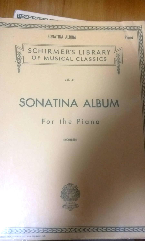 Schirmer's 原文 小奏鳴曲樂譜