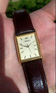 """Seiko Galaxy """"Tank"""" Vintage Tapestry Pattern Dial Watch. Cartier Tank Homage"""