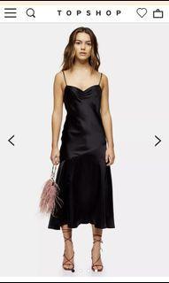 Topshop satin slip dress with side slit