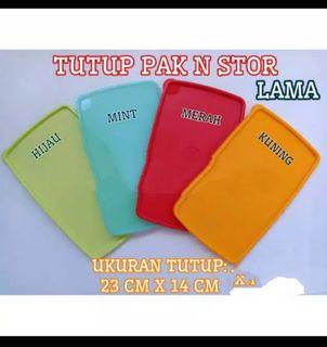 Tutup tupperware pack n stor warna mint