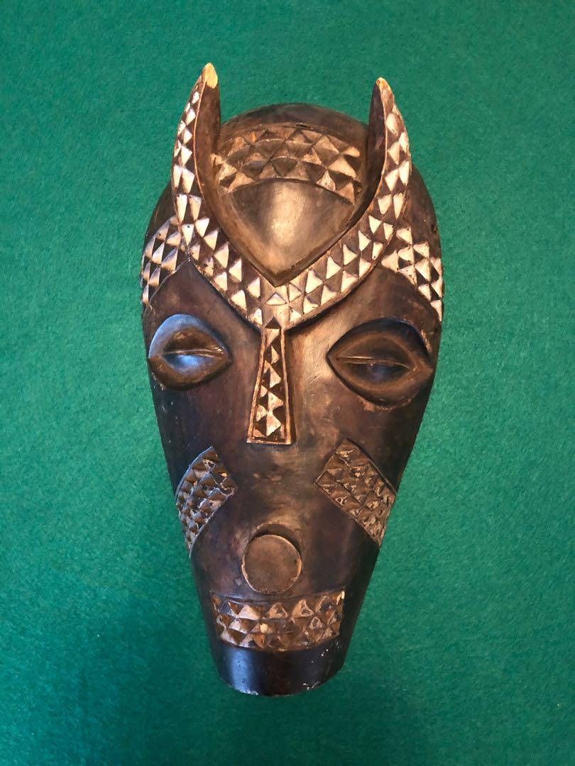 Two African masks from Gabon