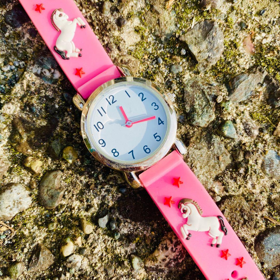 Vintage Kidcore Kawaii Pink Horse Watches