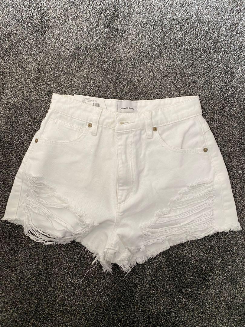 White Abrand shorts