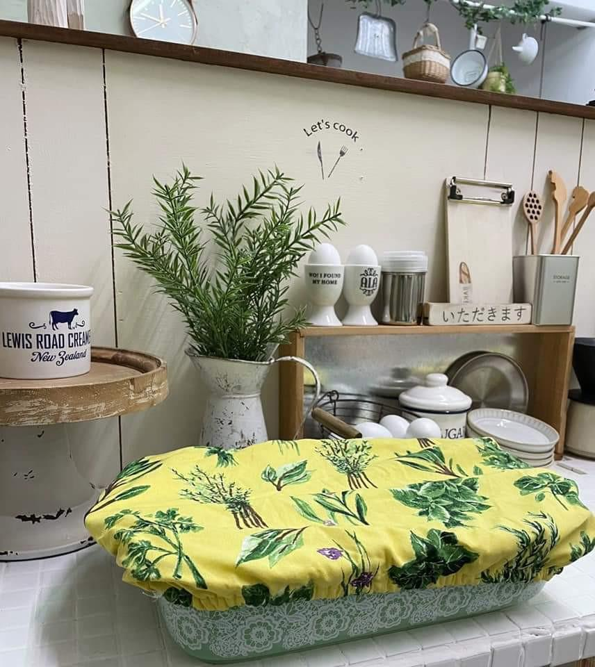 【白芷北歐雜貨🐦】🌻預購🌻美國植物圖案鄉村風麵糰發酵罩
