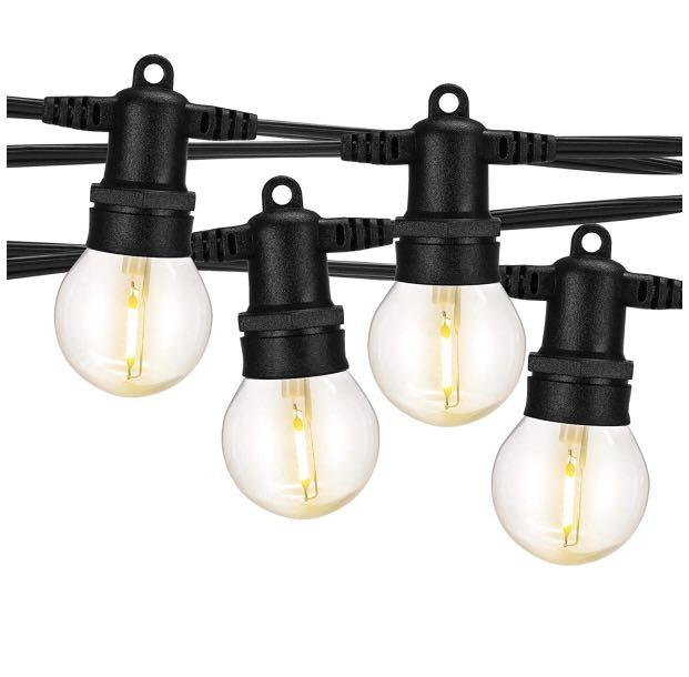 Brand new 26Ft LED Outdoor String Lights with 12 LED Bulbs(2 Spare)