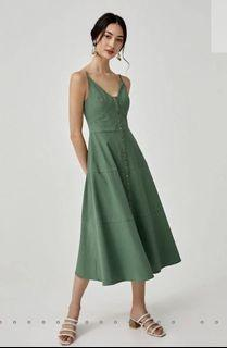 Camisole dress (green & red)