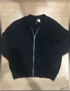 H&M毛衣風衣外套-S