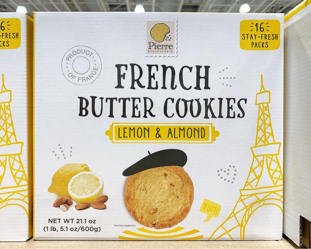 🍁PIERRE BUTTER COOKIE檸檬杏仁奶油餅乾 37.5gx16入(請私訊有貨再下單)