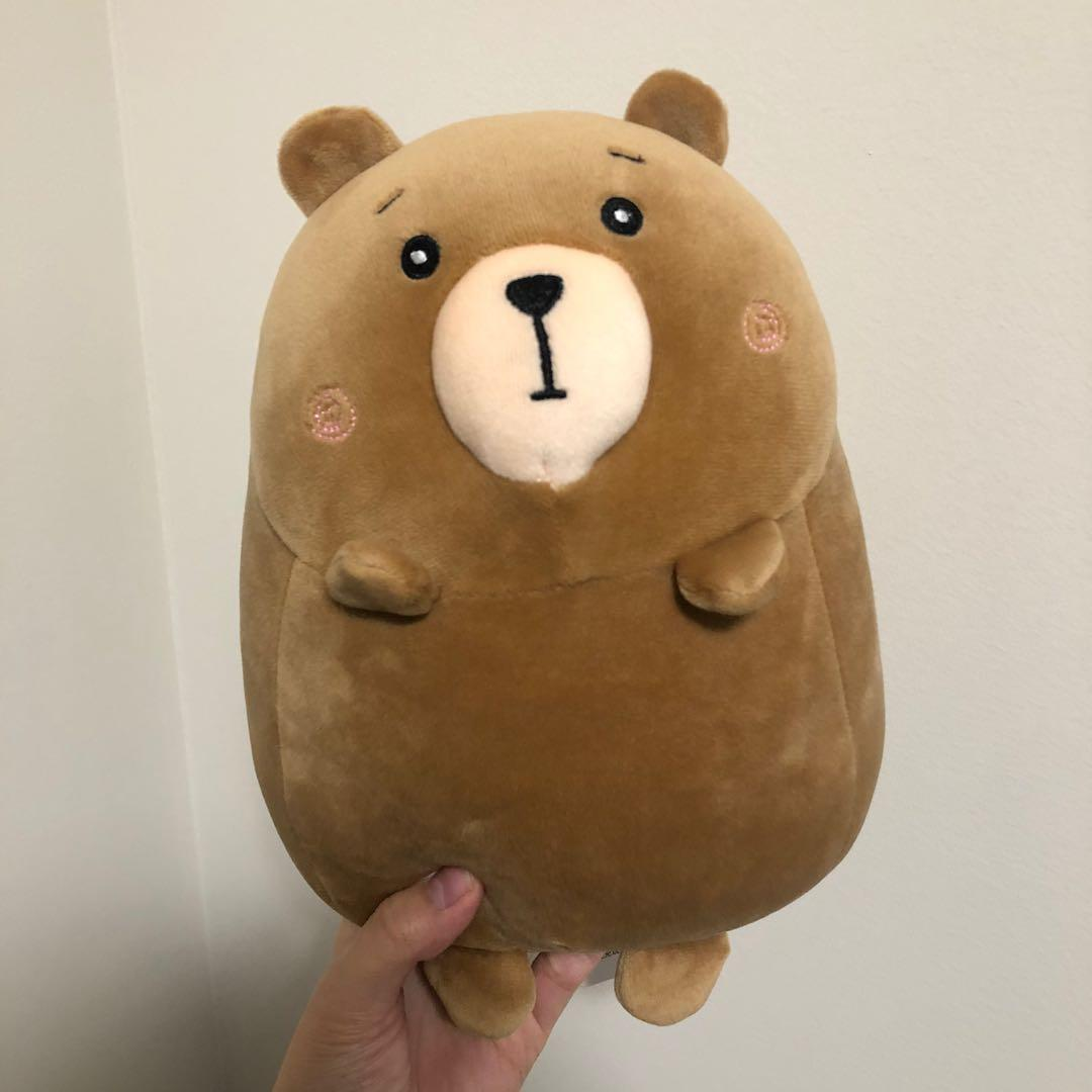 Round Bear Plush Toy