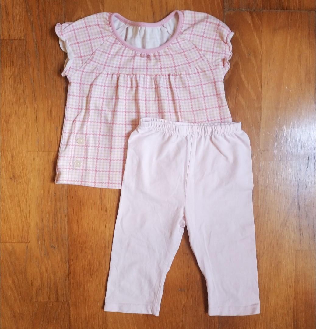 Uniqlo女寶睡衣+他牌睡褲