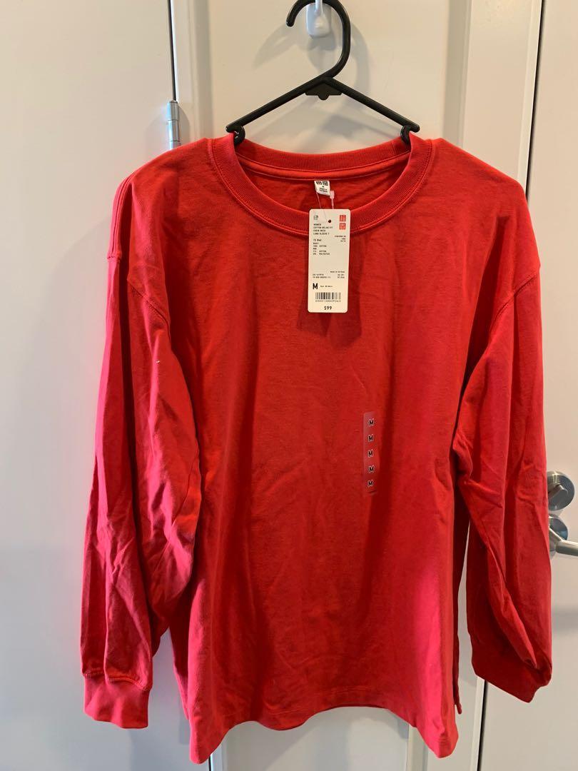 Uniqlo red long sleeve shirt