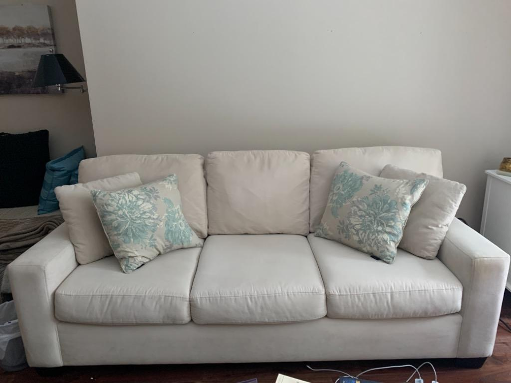 White structube couch