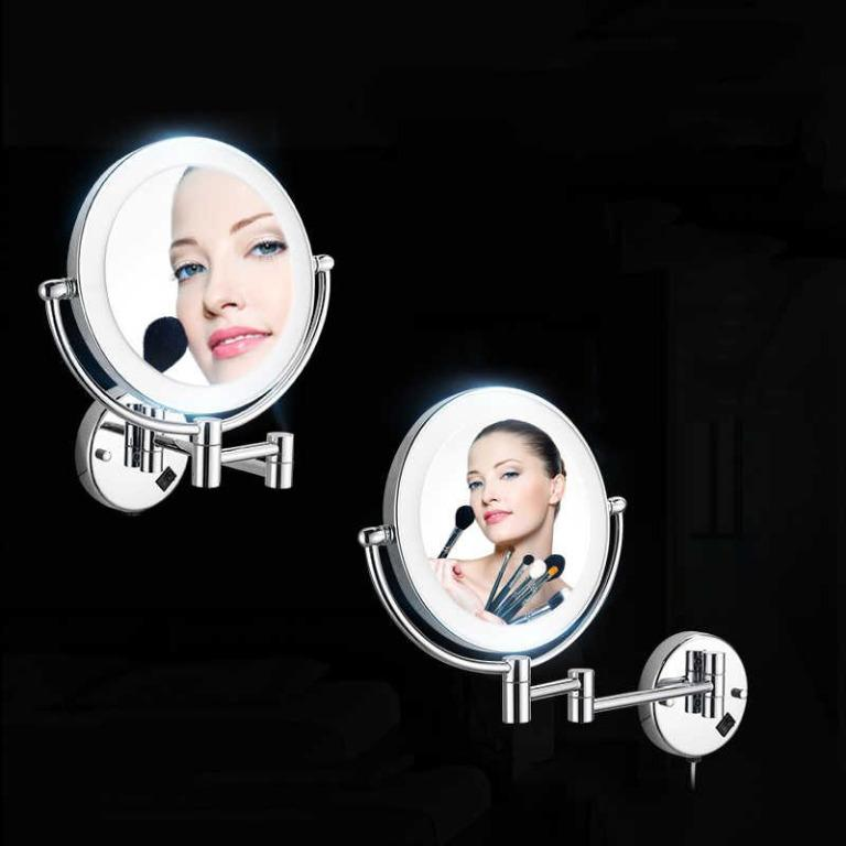 Free Delivery Bath Mirrors Chrome Magnifying Bathroom Wall 9 Inch Brass Round Led Makeup Lighting Mirror Illuminator Make Up Mural Electronics Others On Carousell