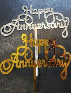 Happy Anniversary Acrylic cake topper