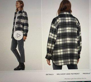 H&M Plaid Overshirt SZ S