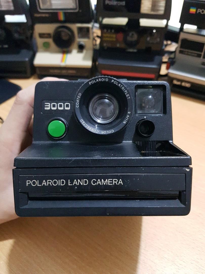 Kamera Polaroid Land 3000 Green Button Made in USA Langka Rare Collectible Kolektor Item