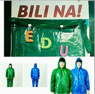 Kapote raincoat rain coat top long sleeves jacket hood pants
