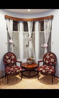 kursi jati ruang tamu asli vintage antik