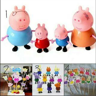 Party Cake Topper: Peppa Pig cake toppers/ toy figurine