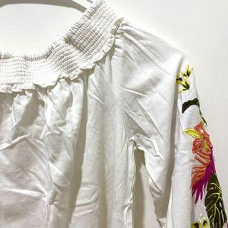 Promod Off Shoulder Top with Embroidery