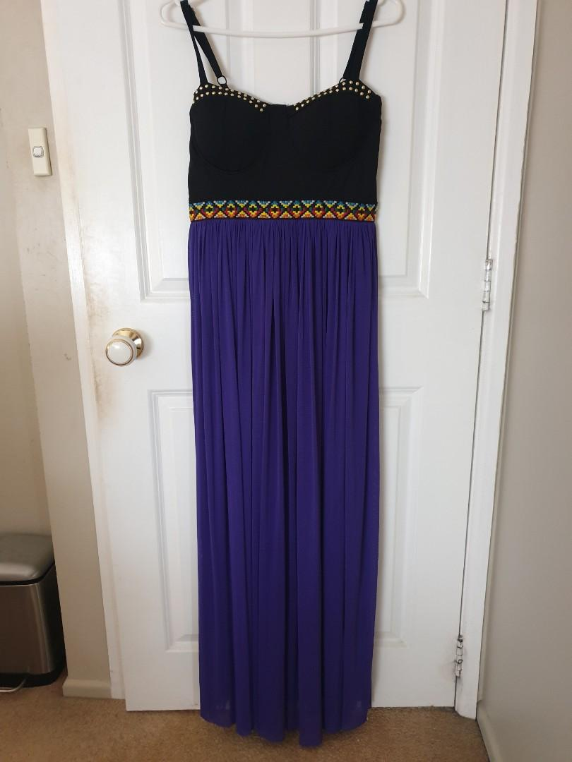 Purple crossroads dress