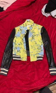 Rag &bone floral leather bomber jacket