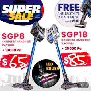 SGP8 and SGP18 Pro Trojan Cordless Handheld Vacuum Cleaner Dyson alternative
