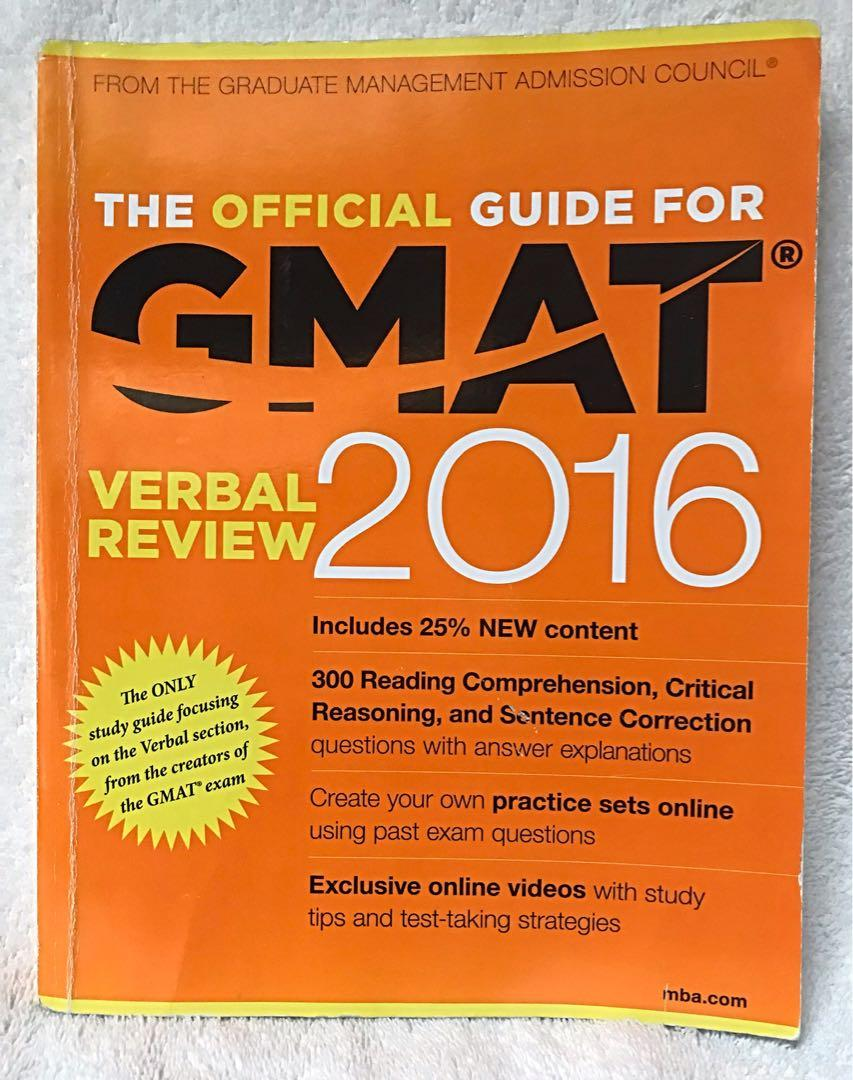The Official Guide for GMAT 2016 verbal review