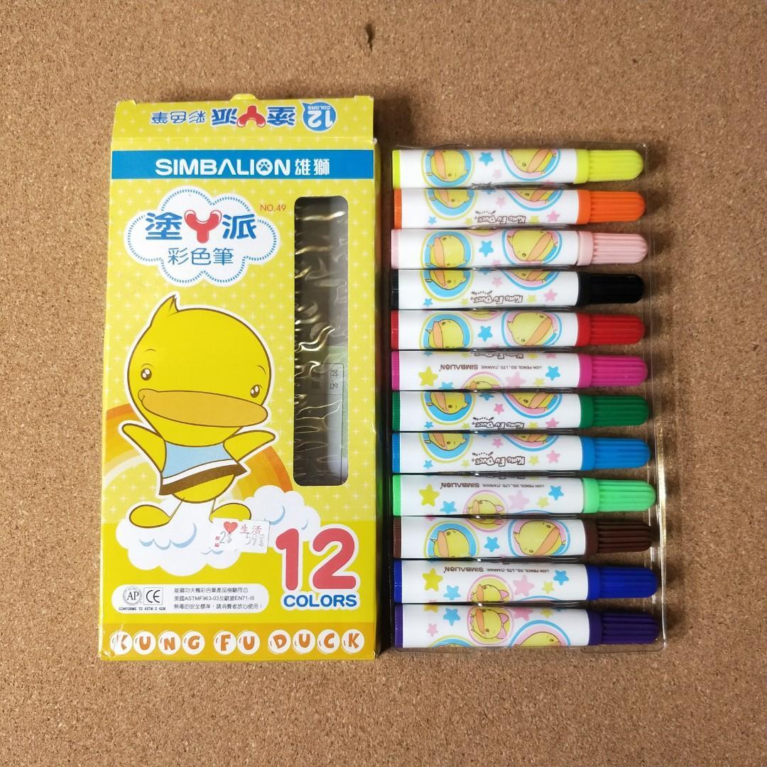 12色雄獅彩色筆