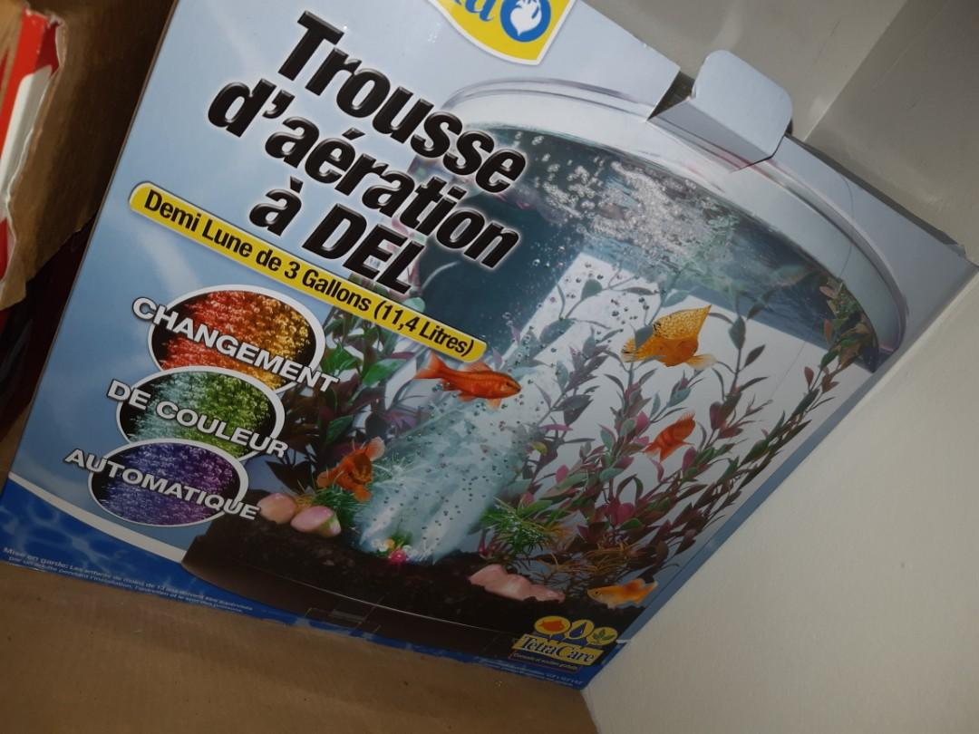 3 gallon Half Moon Fish Tank everything included plus extras