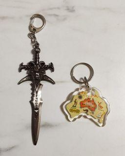 鑰匙圈/吊飾:魔獸世界霜之哀傷劍、澳洲紀念品