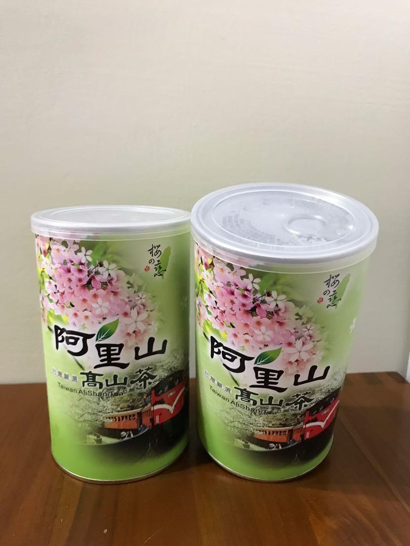 全新轉賣!阿里山茶葉易開罐包裝禮盒
