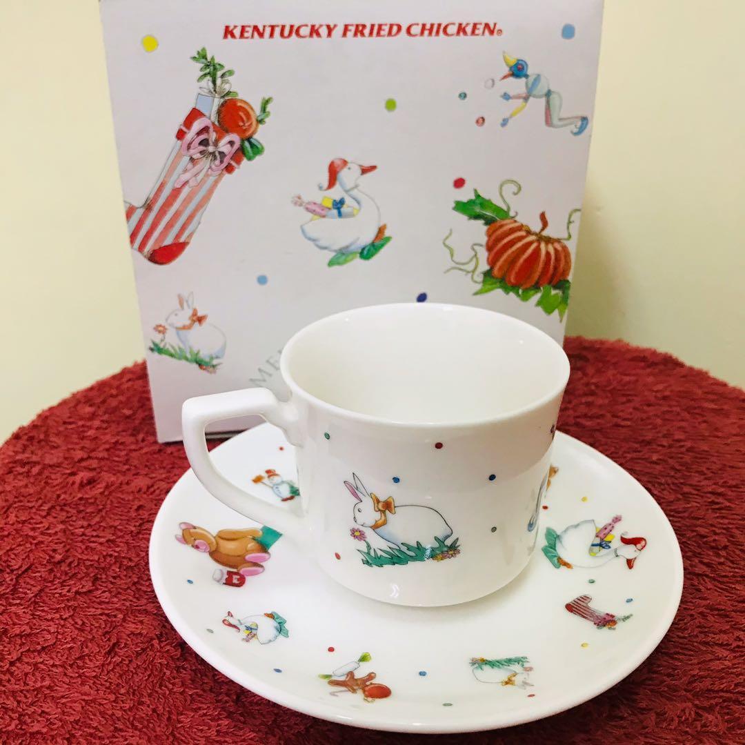 日本肯德基1994聖誕節紀念杯盤組盒