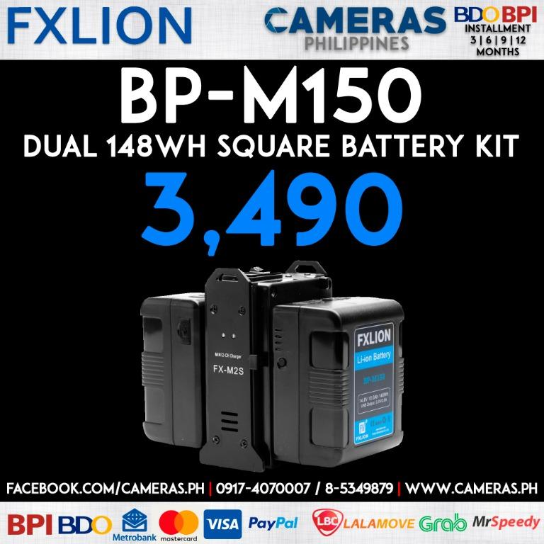 BP-M150 Dual 148WH Square Battery kit | Credit Card | Installment | Cash | Cameras Philippines
