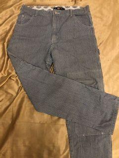 Dickies 條紋 直筒 工作褲