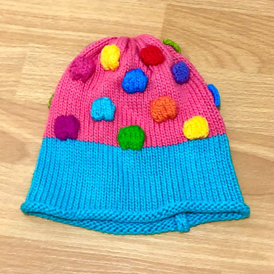 Handmade Vintage Kawaii Balls Fluorescent Colourful Hat