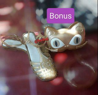 Melissa Aranha Quadrada Gold Bonus Bag