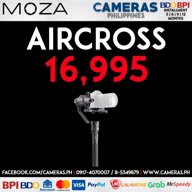 Moza AirCross 3-Axis Gimbal for Mirrorless Cameras | Credit Card | Installment | Cash | Cameras Philippines