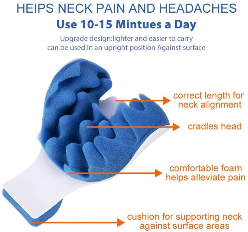 Neck and Shoulder Relaxer Neck Pain Relief and Neck Support Shoulder Relaxer Massage Traction Pillow Chiropractic Pillow for Pain Relief Management and Cervical Spine Alignment Neck Stretch