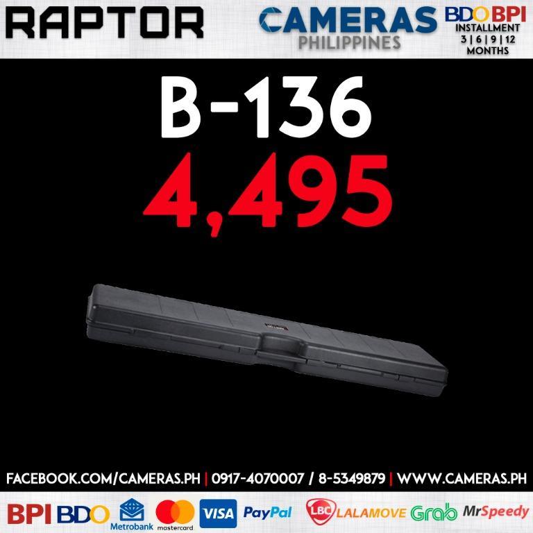 RAPTOR B-136 | Credit Card | Installment | Cash | Cameras Philippines