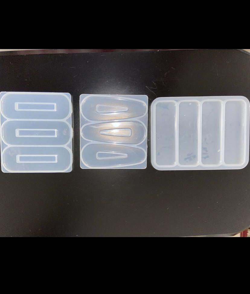Resin hair pin molds and clips