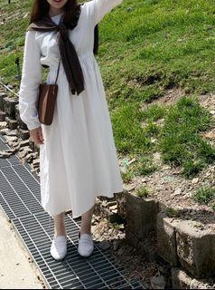 白色縮腰洋裝