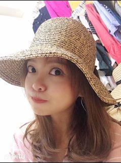 蝴蝶結遮陽帽子