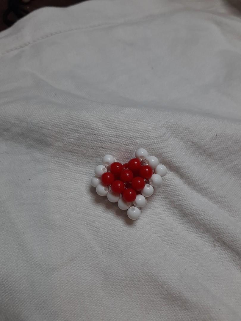 (手作)紅色愛心串珠