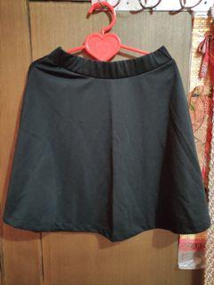 Basic Black Flare Skater Skirt   Rok Hitam Mini