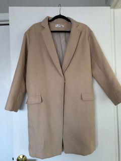 Beige Oversized Jacket