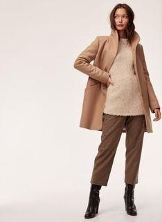 Brand New with tags Aritzia Cocoon Coat in Camel